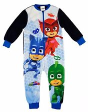 PJMASKS One Piece Pyjama All In One Sleepsuit Nightwear Sublimated Fleece
