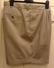 NWT Brooks Brothers Men's Pleated Front Khaki Advantage Chino Shorts Size W46