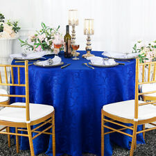 "Wedding Linens Inc. 90"" Round Damask Jacquard Polyester Tablecloths Table Covers"