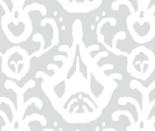 Ikat Home Dec Upholstery Gray Fabric Printed by Spoonflower BTY