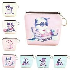 Women Girl Cat Leather Zip Coin Purse Key Card Bag Lady Wallet Clutch Tote Cheap