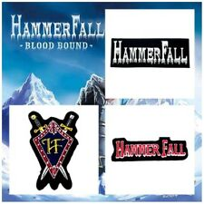 HammerFall Patch Embroidered Sew Iron On Rock Band Heavy Metal Music Logo Badge