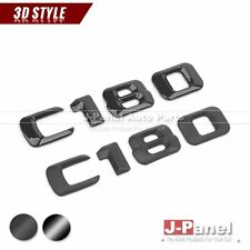 BLACK C180 REAR 2014-ON NUMBER EMBLEM BADGE for MERCEDES BENZ C CLASS W203