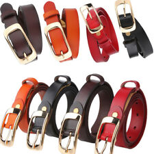 Women's Faux Leather Fashion Dress Belt Casual Pin Buckle Waist Strap Waistband