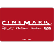 Cinemark Gift Card - $25 $50 or $100 - Fast Email delivery