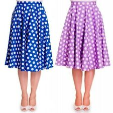 HELL BUNNY POLKA DOT 50's STYLE SWING SKIRT - Size 6 to 14 - 50's VINTAGE SWING