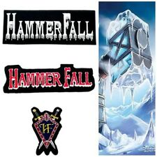 HammerFall Patch Sew On Embroidered Iron Rock Band Music Heavy Metal Logo Jacket
