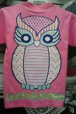 PINK OWL HOOTER SMOKY MOUNTAIN T-SHIRT ~OWL SMOKY MOUNTAIN SHIRT ~ SIZE SELECT