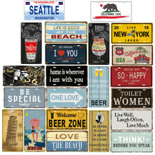 Retro Tin Sign Wall Decor Metal Bar Plaque Pub Poster Home Cafe Tavern Shop