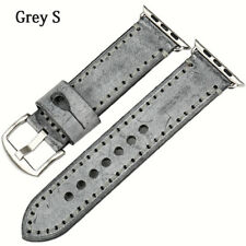 Apple Watch Italian Bridle Leather Grey Strap. High Quality. 38/42mm