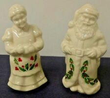 LENOX PORCELAIN (MR. AND MRS SANTA CLAUS) - SALT -N-  PEPPER SHAKERS