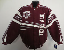 TEXAS A&M AGGIES ARCH RIVALRY JACKET COAT NCAA UNIVERSITY COLLEGE STITCH NEW