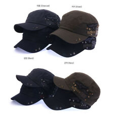 Unisex Mens Womens Star Studed Rock Patch Military Cadet Hat Army Trucker Hats