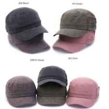 Unisex Mens Womens Corduroy Vintage Army Military Hat Cadet Cap Trucker Hats