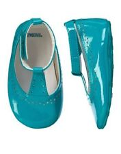 NWT Gymboree FOREST FRIENDS Teal Dress Crib Shoes Baby Girls 2,3