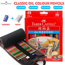 Faber Castell 48 Colors Oil Colored Pencil High Quality Set Art School Painting