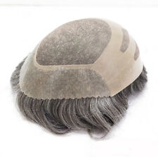 Weld Fine Mono Mens Toupee Human Hair Piece Indian Hair Mens Wig Replacement
