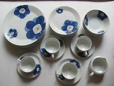 Indigo Moon China Japan Large Blue Flowers Bowls Plates or Cups Saucers Creamer