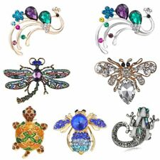Fashion Crystal Animal Dragon Tortoise Bird Brooch Pin Women Costume Jewelry New