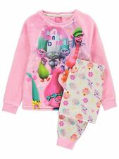 Trolls Girls Fleece Pyjamas PJ's Pyjama Set New