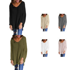 Fashion Women Pullover Winter Ladies V-Neck Sweater Long Sleeve Tops Outwear