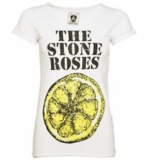Official Women's White The Stone Roses Big Lemon T-Shirt from Amplified
