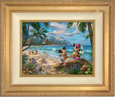 Thomas Kinkade Mickey and Minnie in Hawaii 12 x 16 Limited Edition E/E Canvas