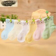 Best Selling 0-2 Years Old Thin Comfortable Baby Socks Pure Color Cotton Childre