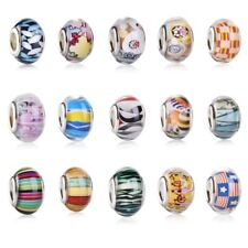 DIY Accessory Assorted Color Loose Smooth Plastic Acrylic Beads Charms Big Hole