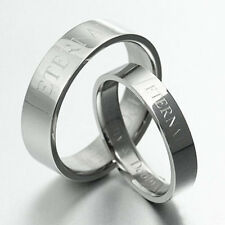 Yourword Matching Wedding Engagement Bands Titanium Couple Rings Set Sz4-15 4&6m