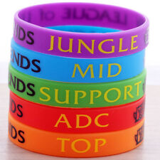 1pcs LOL League of Legends ADC Jungle Support Top Mid Dota Silicone Wristband J3
