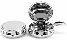 Personalised Round Travel Pocket Ashtray, Chrome, Engraved Gift