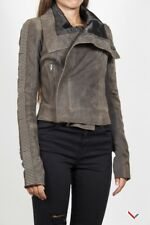 vr915 RICK OWENS WOMEN'S BROWN CROPPED JACKET