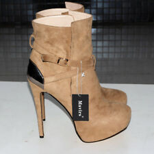 SELL OFF Womens Platform Stiletto Shoes Suede 16cm High Heels Ankle Boots
