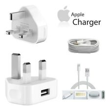 GENUINE Mains Wall Charger Plug / USB Data Cable for Apple iPhone 7 6S 6 Plus 5s