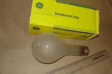 NOS GE 300 Watt Brass Mogul Base Incandescent EXTENDED SERVICE Bulb,Frosted Lamp