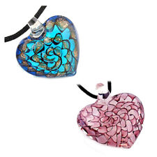 H1 Fashion Lady's Slap-up Lovely heart lampwork glass bead pendant necklace JP27