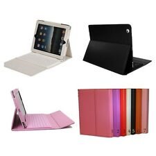 Wireless Bluetooth Keyboard + Folding Leather Case Cover For iPad 2/3