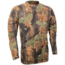 Jack Pyke Long Sleeve Mens T-Shirt Cotton Base Layer Hunting English Oak Camo
