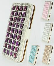 Luxury Crystal Bling Leather Flip Wallet Case Diamond Cover For iPhone 6 6S Plus