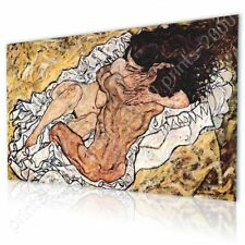 READY TO HANG CANVAS The Embrace Egon Schiele Framed Decor Oil Paintings Prints