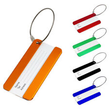 Useful Travel Metal Luggage Baggage Tag Suitcase Address Name Tel Labels Tags