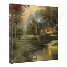 Thomas Kinkade Cottages Set of 2 or Set of 4 - 14 x 14 Gallery Wrapped Canvases