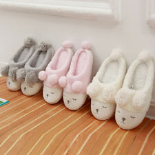 Girls Winter slipper Fleece Warm Casual Shoes Sheep Soft Indoor Home Slippers