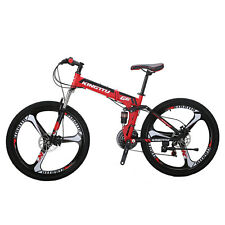 "Folding Mountain Bike 26"" Shimano 21 Speed Full suspension Bicycle MTB Kingttu"