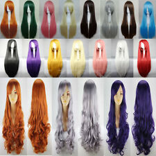 Cosplay Wig Long Curly Hair Halloween Costume Cosplay Party Dress Hair Full Wigs
