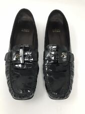 STUART WEITZMAN Sz 10 N CIA CROCO Embossed PATENT LEATHER Loafers Spain