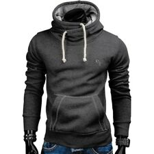 2017 New Spring Autumn Hoodies Men Fashion Brand Pullover Solid Color Turtleneck