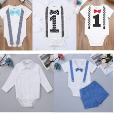 Toddler Kid Baby Boy 1st First Birthday Romper Bodysuit One Piece Outfit Clothes