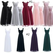 Women Long Evening Party Ballgown Prom Bridesmaid Formal Cocktail Tulle Dresses